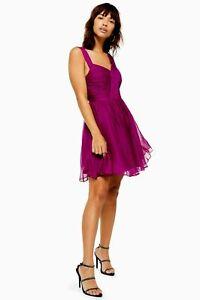 Ex TOPSHOP Purple Mini Dress   UK 14   US 10   EUR 42    (FS106-1)