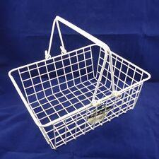 Medium Vinyl Wire Basket - White