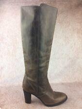 J Crew 'Long Glenbrae' Brown Leather High Heel Tall Boots - Women's Sz 7