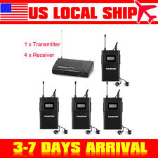 Takstar 1x Transmitter&4xReceivers WPM-200 Wireless Monitor System In-Ear Stereo