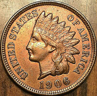 1906 USA INDIAN HEAD SMALL CENT - Uncirculated details - Cleaned