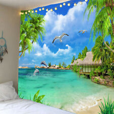 Creative 3D Wall Hanging Tapestry Beach Towel For Outdoor/Indoor Sea View O