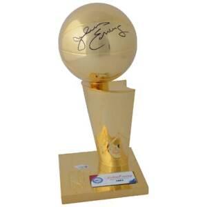 JULIUS ERVING Autographed Philadelphia 76ers Finals Replica Trophy FANATICS