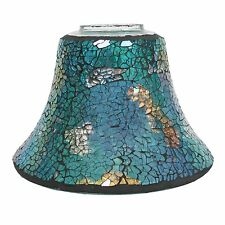 Turquoise Lustre Crackle Mosaic - Candle Lamp 16.0cm G24744