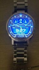 MOTOROLA 360 SMART WATCH W/ STEEL BLACK BAND AND CHARGER
