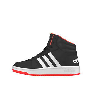 Adidas HOOPS 2.0 MID sneaker nera in pelle da bambino B75743 102072