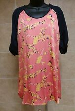 19 Cooper NWT Beautiful Flower Coral Color Shift Dress Material Size XS new gift