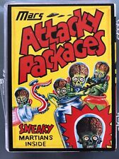 MARS ATTACKS ATTACKY PACKAGES 9 CARD SET COMPLETE Scarce