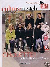 Coupure de presse Clipping 2009 Le Petit Nicolas a 50 ans (3 pages)