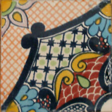 #C086) Mexican Tile sample Ceramic Handmade 4x4 inch, GET MANY AS YOU NEED !!