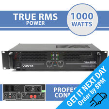 Vonyx VXA-2000 MKII PA DJ Power Amplifier 2-Channel Rack Mount Audio Amp 2000W