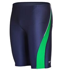 NWT Boys Youth SPEEDO Blue Green Taper Splice Racing Swim Jammers 6 22 MSRP $49