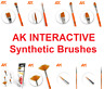 AK Interactive - Synthetic Paint Brushes (Choose your Brush)