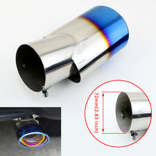 Blue Truck Tail Exhaust 72mm 2.8 Inch Inlet Rear Muffler End Tip Pipe Decoration