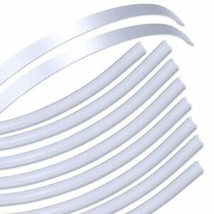 Muzata Flexible LED Channel with Milky White Cover Lens,Bendable Aluminum Profil