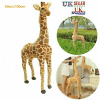 60/100CM Plush Giraffe Doll Giant Large Stuffed Animals Soft Toys Gift UK Seller