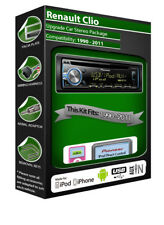 Renault Clio car stereo, Pioneer headunit plays iPod iPhone Android USB AUX
