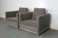 """Rare Sublime Pair of B&B Italia """"George GS85"""" Armchairs in Gorgeous Mid-Grey ..."""