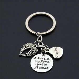 Memorial Keyring Heaven Loss Key Chain Charms Keychain Family Sympathy Keys Ring