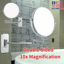 1x/10x Magnifying Light Makeup Cosmetic Mirror Wall Mount Folding Vanity Mirror