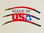 3pc 4MM Male to Female Bullet Castle ESC Extension Leads 10AWG 200C SILICONE