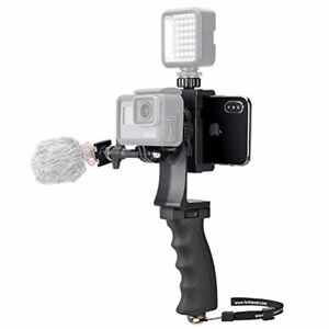 2in1 Portable Action Camera+Smartphone SYN Stabilizer Mount Ergonomic Hand Grip