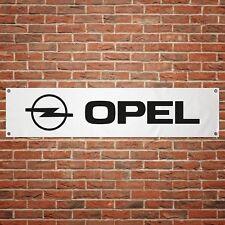 Opel Banner Garage Workshop PVC Sign Trackside Car Display 1990s Logo