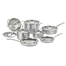 Cuisinart MultiClad Pro 12-Piece Stainless Steel Cookware Set, Cool Grip Handle