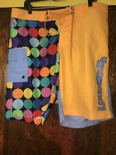 LoudMouth Multicolor Polka Dot Flat Front Golf Shorts Mens Size 36 C43