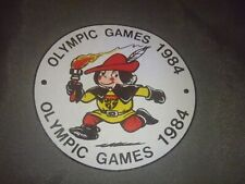 Vintage 1984 Los Angeles Summer Olympics Gray Nylon Zip Shoulder Book Bag