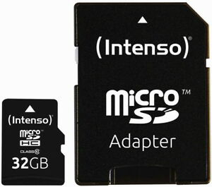 Intenso Micro SDHC Karte 32GB Speicherkarte Class 10 bulk