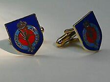 Military Cufflinks Enamel Army Welsh Guards (shield design)