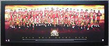 2013 GOLD COAST FOOTBALL CLUB TEAM AFL GOLD COAST SUNS TEAM POSTER FRAMED
