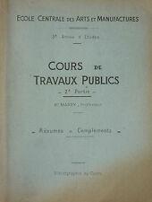 PR. MARRY - COURS DE TRAVAUX PUBLICS - TRAVAUX MARITIMES - ARTS MANUFACTURES