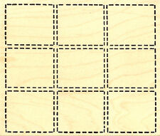 Dash Grid Wood Mounted Rubber Stamp Northwoods Rubber Stamp New
