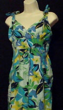 WOMENS DRESS,SIZE M,TROPICAL,TIES AT SHOULDERS,POCKETS
