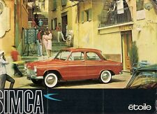 Simca Aronde P60 Etoile 1960-61 UK Market Leaflet Sales Brochure