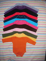 Long sleeved baby bodysuit vests. coloured, fancy dress/ baby shower all-in-one