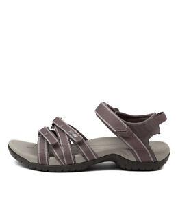 New Teva Tirra Black Grey Mesh Womens Shoes Casual Sandals Sandals Flat