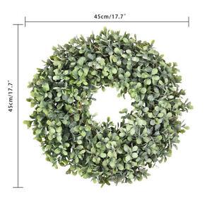 Pure Garden Preserved Boxwood Wreath Home Door Decor Greenery Wedding Event