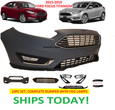 2015 - 2019 FORD FOCUS FRONT BUMPER COVER COMPLETE TITANIUM  GRILLS FOG LAMPS