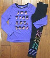 NWT Justice Girls Bacon /& Eggs Buddies Crop Hi Low Hem Tee Top U Pick Size NEW