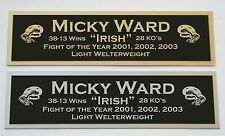 Micky Ward nameplate for signed boxing gloves trunks photo