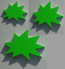 150 Sterne 3 Größen Preisschild Karton Neon Werbung deko Schaufenster Stanzteile
