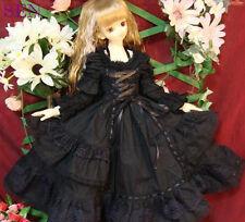 1/4 bjd MSD MDD girl doll black dress outfits dollfie luts #SEN-53MD ship US