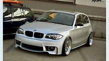 Front 1 M Look pare-chocs pour BMW 1 Série E81 E87 Plastique Neuf Largeur M1 Ensemble