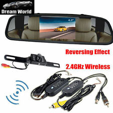 "4.3"" Car TFT LCD Monitor Mirror Wireless Reverse Car Rear View Backup Camera VIP"
