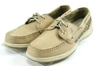 Sperry Top Sider Women's 2 Eye Boat Shoes Size 8 Leather Tan