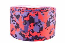 """3"""" Wide Red Digital Camo Printed on Grosgrain Cheer Bow Ribbon"""