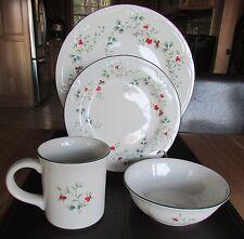 Pfaltzgraff Winterberry 16 pc Dinnerware Set Red Berries - Green Holly - NIB!!